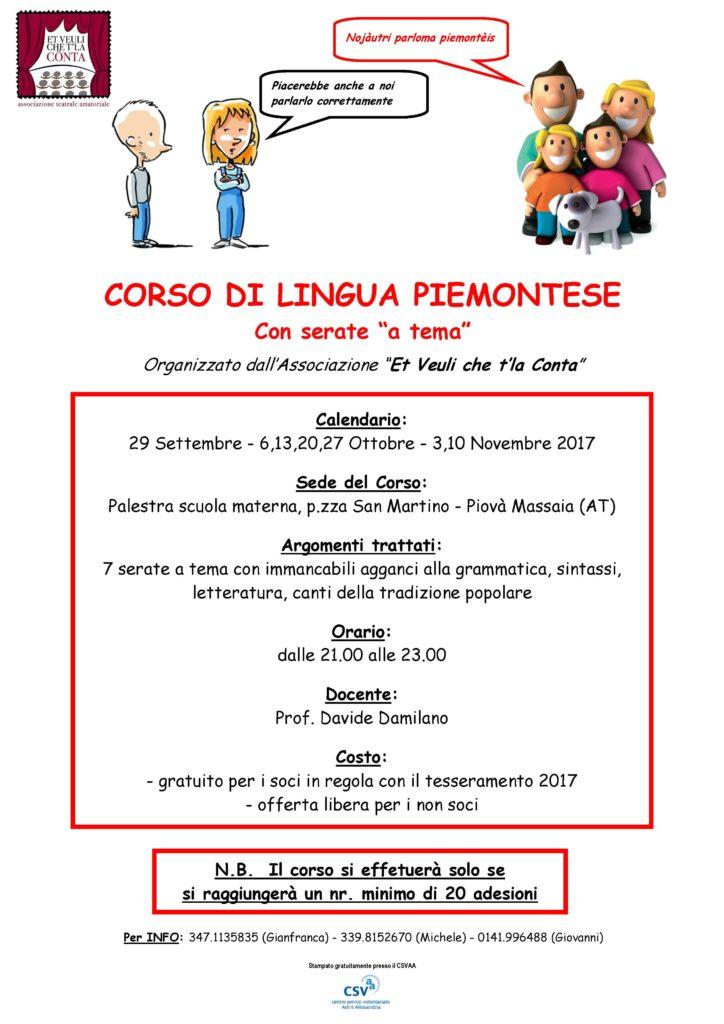 [:it]Corso di lingua piemontese[:] @ Salone polivalente di Piovà Massaia