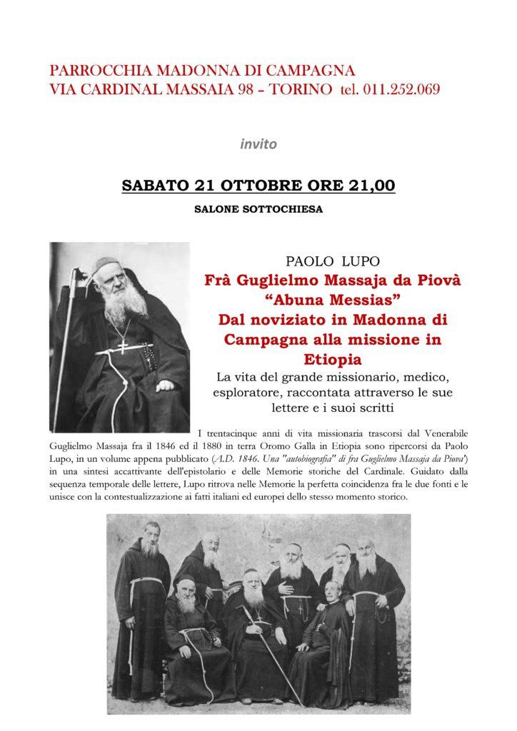[:it]Frà Guglielmo Massaja da Piovà[:] @ Parrocchia Madonna di Campagna di Torino