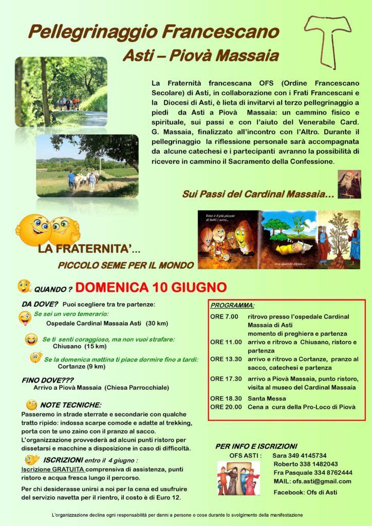 [:it]Pellegrinaggio Francescano[:] @ Asti - Piovà Massaia