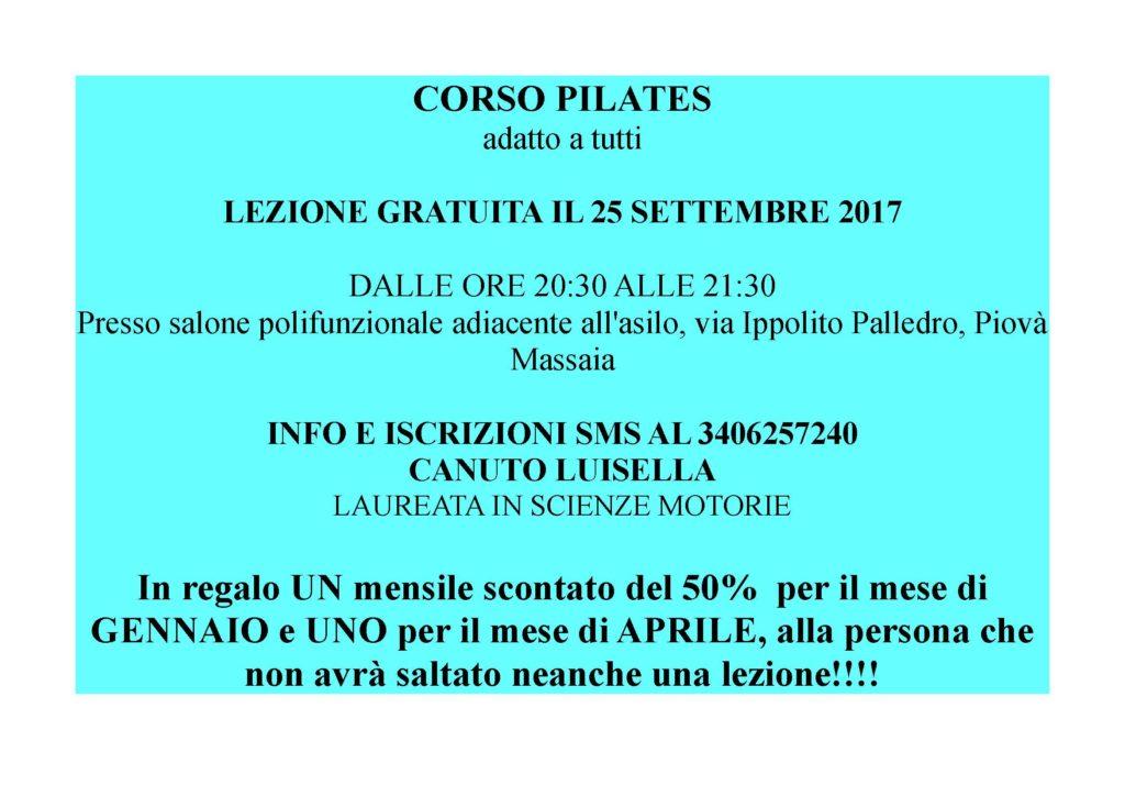 [:it]Corso di pilates[:] @ Salone polivalente di Piovà Massaia